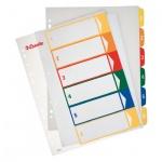 Цифровой разделитель листов Esselte Maxi, А4+, 6 разделов