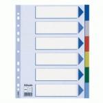 Цветовой разделитель листов Esselte 6 разделов, А4, 15260