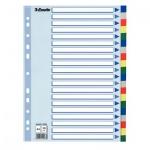 Цветовой разделитель листов Esselte, А4, 20 разделов