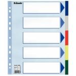 Цветовой разделитель листов Esselte Maxi 5 разделов, А4+, 15266