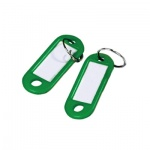 Бирка для ключей Alco, зеленый,  100шт