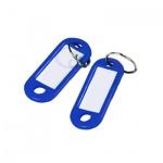Бирка для ключей Alco, синий,  100шт