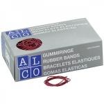 Резинки для денег Alco, 500г, красные, 50мм