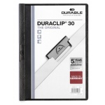 Пластиковая папка с клипом Durable Duraclip, А4, до 30 листов, черная