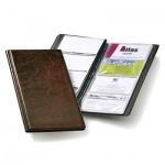 Визитница Durable Visifix на 96 визиток, коричневая, 253х115мм, ПВХ, 2380-11