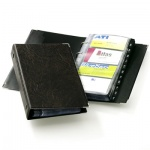 Визитница Durable Visifix Сentium на 200 визиток, чёрная, 255х145мм, ПВХ, разделитель A-Z, 2383-01