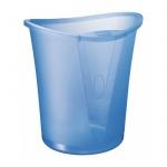 Корзина для бумаг Leitz Allura 18л, голубая, с держателем, 52040005
