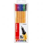 Ручка капиллярная Stabilo Point, 0.4мм, 6 цветов