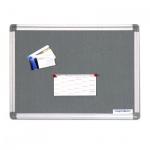 Доска текстильная Magnetoplan 1412001 120х90см, серая, алюминиевая рама