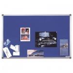 Доска текстильная Magnetoplan 1412003 120х90см, синяя, алюминиевая рама