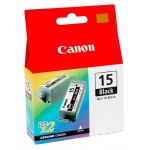 Картридж струйный Canon BCI-15B, черный, 2шт/уп