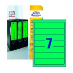 Этикетки для папок Avery Zweckform L4764-20, зеленые, 38х192мм, 7шт на листе А4, 220 листов, 175шт,