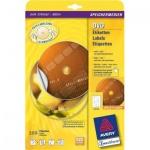 Этикетки для CD/DVD Avery Zweckform L6043-100, белые, d=117мм, 2шт на листе А4, 100 листов, 200шт, для всех видов печати