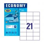 Этикетки самоклеящиеся Avery Zweckform Economy 9169-100, белые, 70х42.3мм, 21шт на листе А4, 100 листов, 2100шт, для всех видов печати