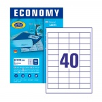 Этикетки Avery Zweckform Economy 9178-100, белые, 48.5х25.4мм, 40шт на листе А4, 100 листов, 4000шт, для всех видов печати