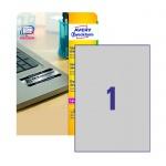 Этикетки высокостойкие Avery Zweckform L6013-20, серебряные, 210х297мм, 1шт на листе А4, 20 листов, 20шт, для лазерной печати