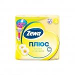 Туалетная бумага Zewa Плюс ромашка, желтая, 2 слоя, 4 рулона, 184 листа, 23м
