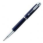 Ручка-роллер Parker IM Metal T221 F, черная, синий корпус
