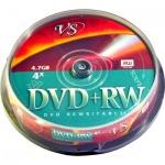 Диск DVD+RW Vs 4.7Gb, 4х, Cake Box, 10шт/уп