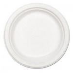 Тарелка одноразовая Huhtamaki белая, d=22см, 100шт/уп