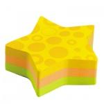 Блок для записей с клейким краем Post-It Super Sticky Звезда, 2 цвета неон, 80х80мм, 150 листов, фигурный, 7350-SS-STR