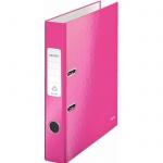 Папка-регистратор А4 Leitz 180° Wow, 50 мм, розовая