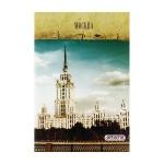 Тетрадь общая Attache Москва, А4, 80 листов, в клетку, на скрепке, мелованный картон/ лак