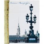 Тетрадь общая Attache Санкт-Петербург, А5, 80 листов, в клетку, на скрепке, мелованный картон