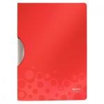 Пластиковая папка с клипом Leitz Bebop красная, А4, до 30 листов, 41830025