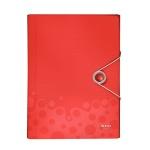 Пластиковая папка на резинке Leitz Bebop, A4, до 150 листов, красная