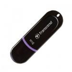 Флеш-накопитель Transcend JetFlash 300 8Gb, 15/7 мб/с, черно-фиолетовый
