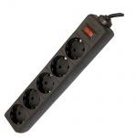 Сетевой фильтр Defender ES, 5 розеток, черный