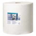 Протирочная бумага Tork повышенной прочности W1, 130060, в рулоне, 340м, 2 слоя, белая