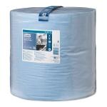 Протирочная бумага Tork повышенной прочности W1, 130070, в рулоне, 340м, 2 слоя, голубая