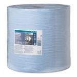 Протирочная бумага Tork суперпрочная W1, 130080, в рулоне, 255м, 3 слоя, голубая