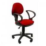 Кресло офисное Бюрократ CH-318AXN ткань, бордовая, крестовина пластик