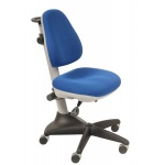 Кресло детское Бюрократ KD-2 ткань, синяя, крестовина пластик, серая
