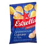 Чипсы Estrella сметана/ лук, 160г