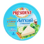 Сыр плавленый President легкий, 45%, 140г