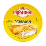 Сыр плавленый President маасдам, 45%, 140г