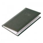 Телефонная книга Brunnen Софт А6, зеленая, 48 листов, кожзам