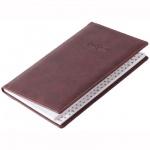 Телефонная книга Brunnen Торино А6, бордовая, 48 листов, кожзам