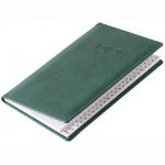 Телефонная книга Brunnen Торино А6, зеленая, 48 листов, кожзам