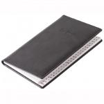 Телефонная книга Brunnen Торино А6, черная, 48 листов, кожзам