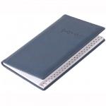 Телефонная книга Brunnen Торино А6, синяя, 48 листов, кожзам