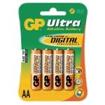 Батарейка Gp Ultra AA/LR6, 1.5В, алкалиновые, 4шт/уп