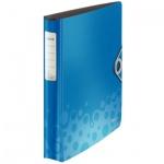 Папка на 4-х кольцах А4 Leitz Active Bebop синяя, 30 мм, 42360037