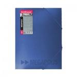 Пластиковая папка на резинке Erich Krause Megapolis синяя, A4, до 300 листов, 14421