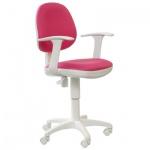 Кресло офисное Бюрократ CH-W356AXSN ткань, розовая, крестовина пластик, белая