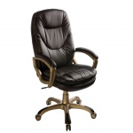 Кресло руководителя Бюрократ CH-868AXSN, крестовина пластик, кофейное, кожзам